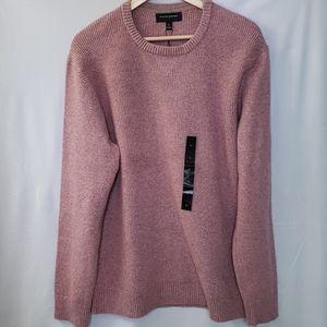 Mens Cozy Waffle Crew-Neck Sweater XL